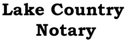 A Lake  Country Notary